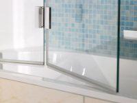 Eine faltbare Dusche ist ideal für eine Badewanne oder bei kleineren Badezimmern.